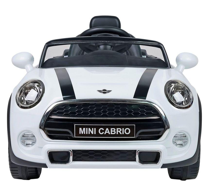 Vista frontale dell''auto elettrica Lamas Toys Mini Cooper, per bambini dai 3 anni d'età
