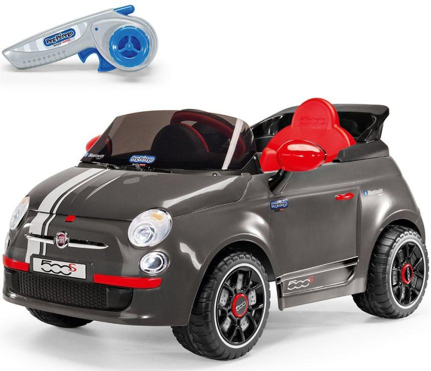 Auto elettrica Peg Pérego Fiat 500 S con telecomando parentale per bambini da 1 anno d'età