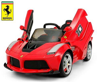 Migliori auto elettriche per bambini Ferrari FXX LaFerrari, auto sportiva rossa a batteria a prezzi scontati fino al 70%