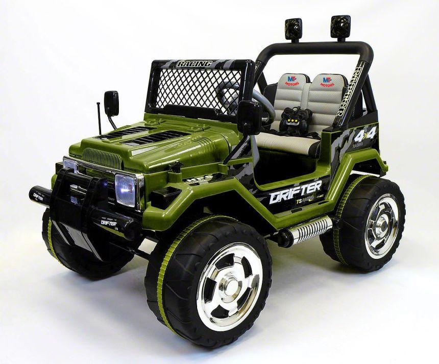 Il fuoristrada elettrico Mondial Toys Drifter è fornito di comodissimi sedili in pelle per garantire il massimo comfort ai vostri bimbi