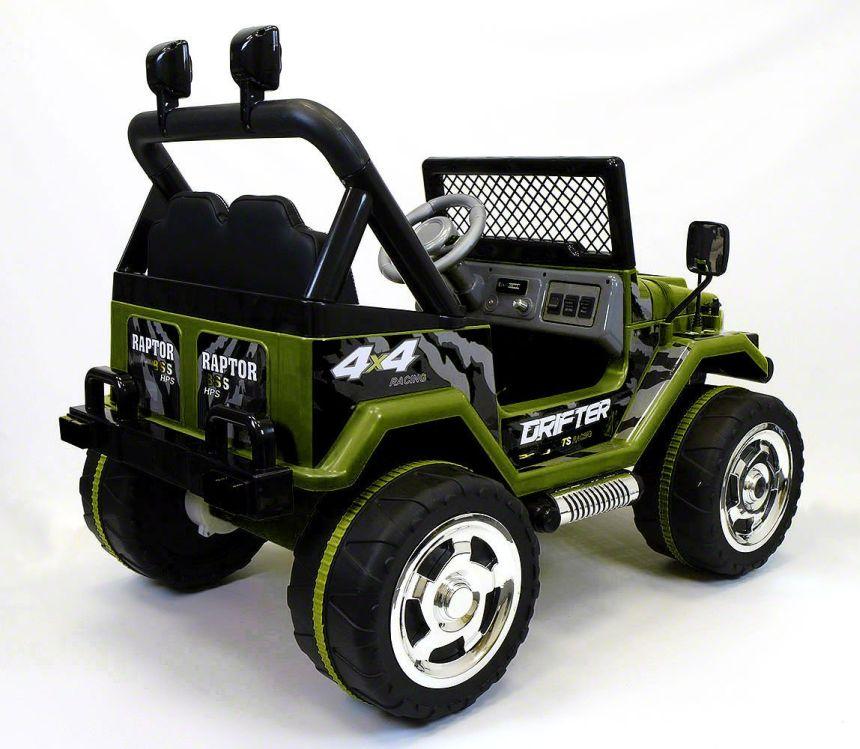 Vista posteriore del fuoristrada elettrico a due posti Mondial Toys Drifter