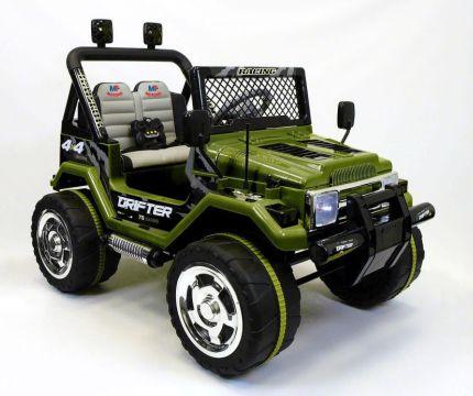 Fuoristrada elettrico a due posti Mondial Toys Drifter con telecomando parentale per bambini dai 3 anni d'età