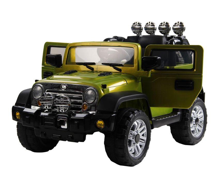 Fuoristrada elettrico HomCom modello Jeep militare per bambini dai 3 ai 5 anni d'età