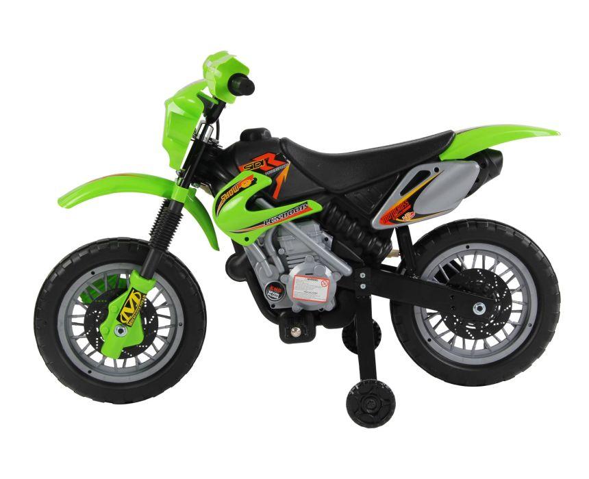 Vista laterale della moto cross elettrica HomCom, che ricordiamo essere adatta a bambini dai 2 ai 4 anni d'età