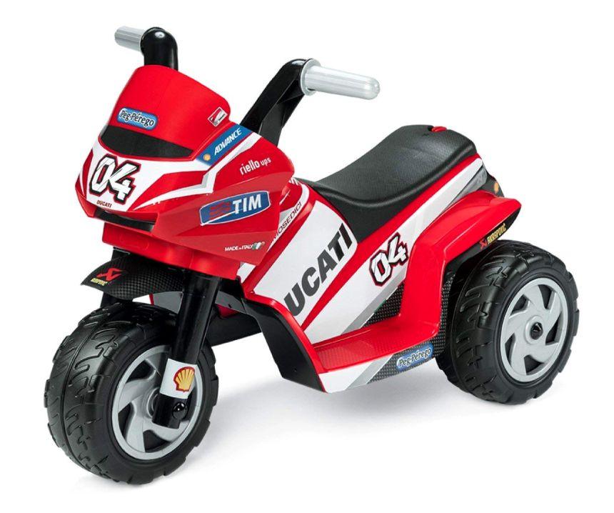 Moto elettrica a 3 ruote Peg Pérego Mini Ducati per bambini da 1 anno d'età