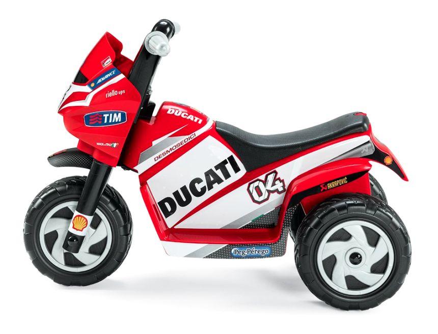 La Moto elettrica a 3 ruote Peg Pérego Mini Ducati, per motociclisti alle primissime armi