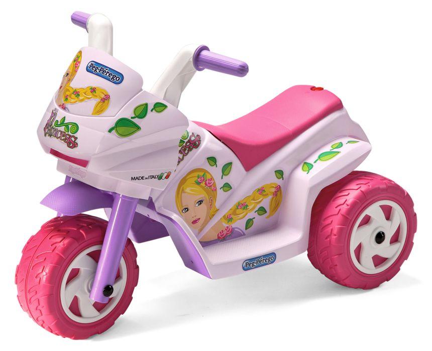 Moto elettrica a 3 ruote Peg Pérego Mini Princess rosa per bambine dal primo anno d'età