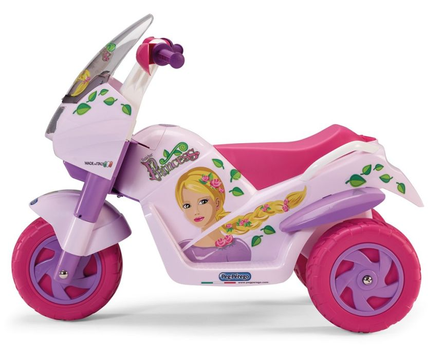 La moto elettrica a 3 ruote Peg Pérego Raider Princess rosa