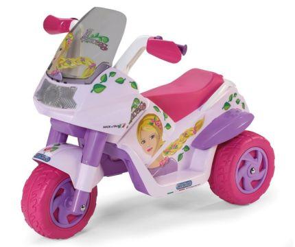 Moto elettrica a 3 ruote Peg Pérego Raider Princess rosa per bambine dai 2 anni d'età