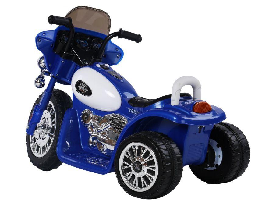 Moto triciclo elettrico HomCom blu per bambini dai 3 ai 4 anni d'età