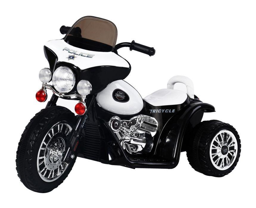 Moto triciclo HomCom polizia con luci e musica per bambini dai 3 anni d'età