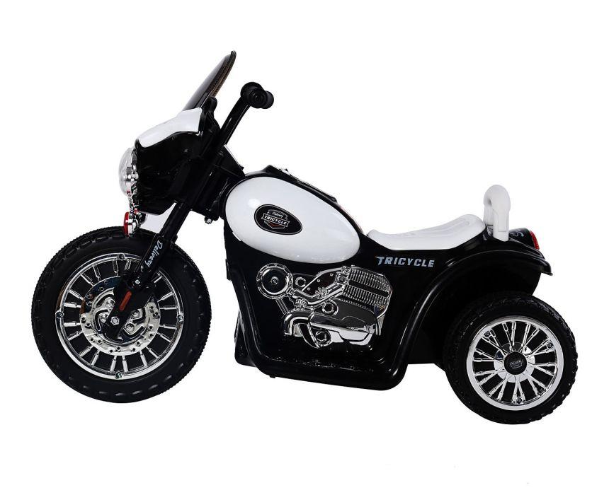 vista laterale della moto triciclo HomCom della polizia