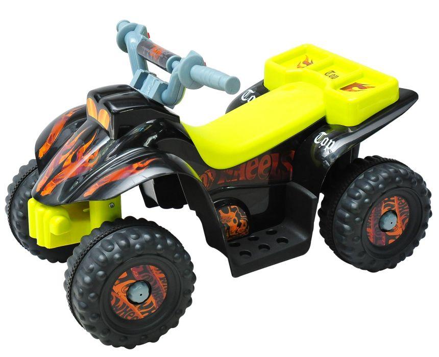 Quad elettrico HomCom giallo e nero a 4 ruote per bambini dai 2 ai 4 anni d'età