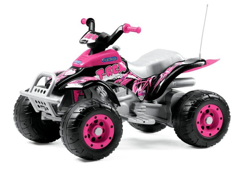 Quad elettrico Peg Pérego Corral T-Rex rosa per bambine dai 3 anni d'età