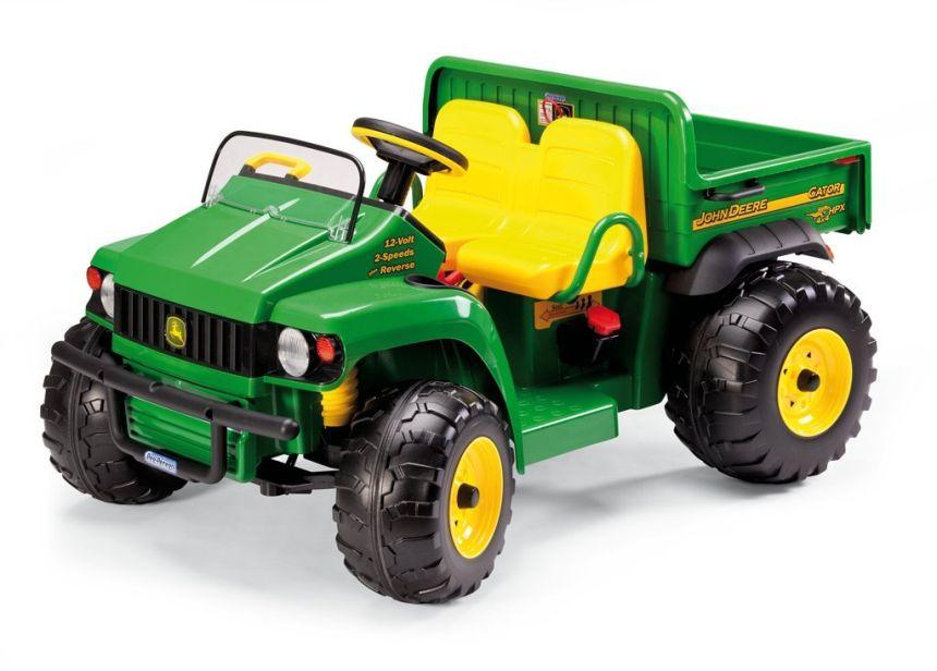 Il trattore elettrico a due posti Peg Pérego John Deere Gator HPX è adatto a bambini dai 3 anni d'età