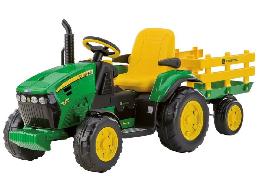 Il trattore elettrico Peg Pérego John Deere Ground Force per bambini dai 3 anni d'età